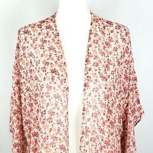 American Eagle Floral Open Kimono